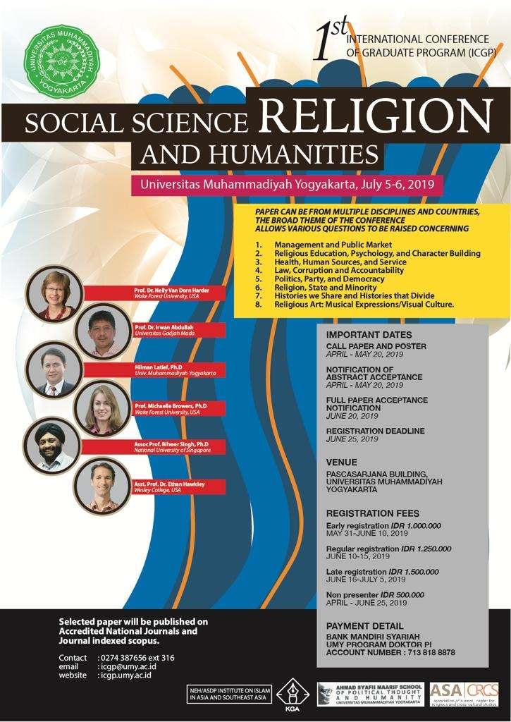 "1st International Conference of Graduate Program (ICGP) ""Social"